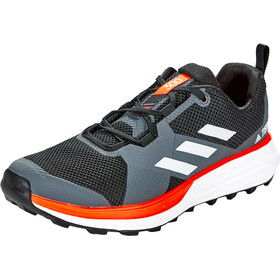 adidas TERREX Two Trail Running Shoes Men core black/footwear white/solar red